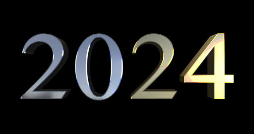 From 2000 To 2040 - Golden And Silver Numbers Live Action