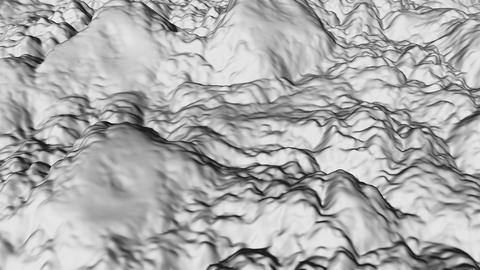 Terrain modern 3d surface model, 3d render backdrop, computer generating Footage