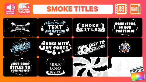 Smoke Titles Apple Motion Template