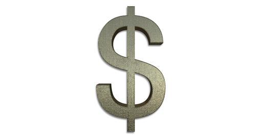 Dollar Symbol Rotating GIF