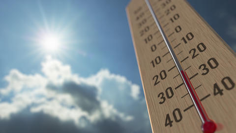 Outdoor thermometer reaches minus 10 ten degrees centigrade. Weather forecast Live Action