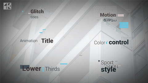Glitch Titles 4K After Effects Template