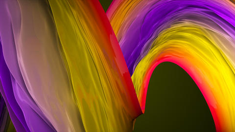 Abstract bright background with visual illusion of smooth effect, 3d render Live Action