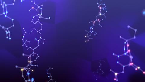 Molecular structure Av2 LED neon dark 4k Animation