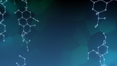 Molecular structure Bv2 dark 4k Animation