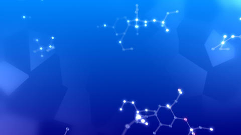 Molecular structure Dh2 neon dark 4k Animation