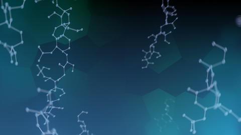 Molecular structure Av2 dark 4k Animation