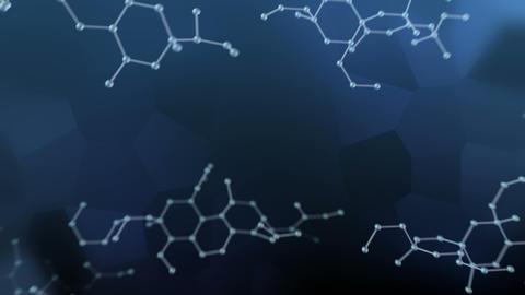 Molecular structure Bh2 dark 4k Animation