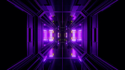 futuristic science-fiction tunnel corridor 3d... Stock Video Footage