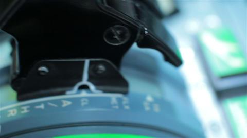 Captian pilot push thrust lever handle engine Live Action