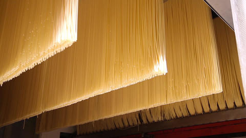 Industrial equipment for spaghetti manufacturing Footage