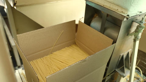 Packing pasta at the factory Footage