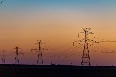 West Texas Sunset Electrical Transmission -100 Photo