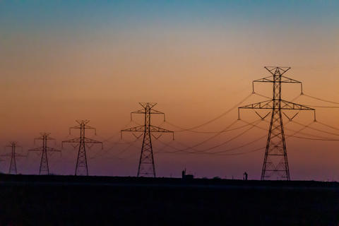 West Texas Sunset Electrical Transmission -104 Photo