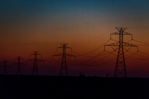 West Texas Sunset Electrical Transmission -204 Photo