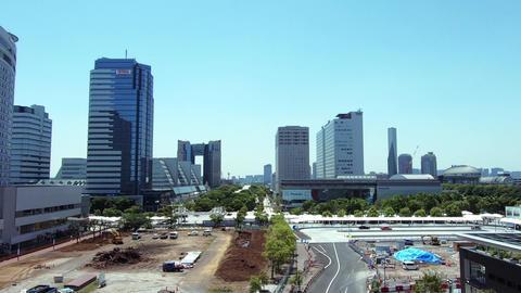 Japan city scenery. View of Tokyo waterfront city area ライブ動画