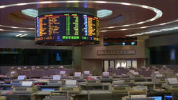 ASIAN MARKETS INSIDE HONG KONG STOCK EXCHANGE Footage