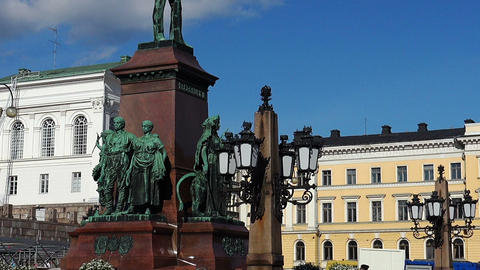 Monument to Alexander II in Helsinki Footage