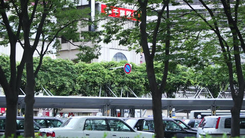 Taxi waiting field./千葉県にある千葉駅前 Filmmaterial