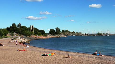 Beach Bay in Helsinki Footage