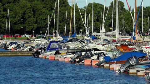 The harbor, the port in Helsinki Live Action