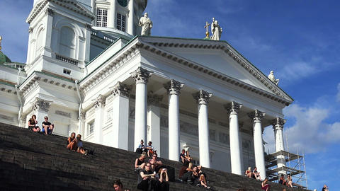 The Lutheran Cathedral on Senate Square, Helsinki Footage