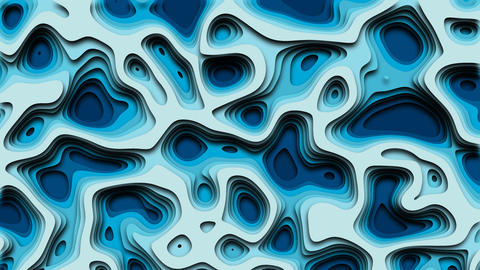 Animated Cut out background ocean Animation