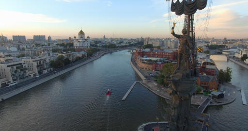 Aerial view of the Peter the Great monument Archivo
