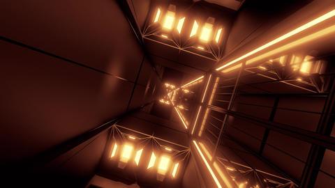 rotating space tunnel corridor vj loop endless 3d illustration Animation