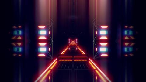 futuristic science-fiction tunnel corridor 3d illustration vjloop background Animation