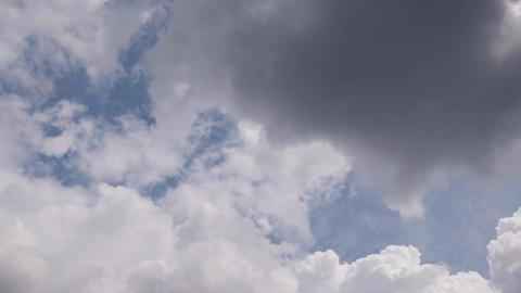 Metamorphosis of sky clouds timelapse GIF