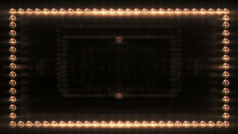 Frame of Light Bulbs Lighting Up Footage