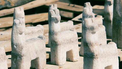 Salt Souvenirs In A Salt Mine. Close-Up Live Action