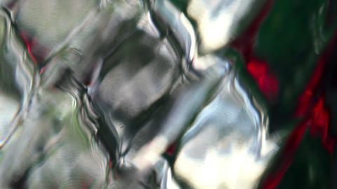 Abstract color reflection on rhombus diamond pattern glass surface Live Action