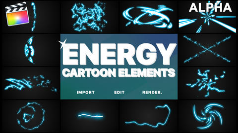 Cartoon Energy Elements Apple Motion Template