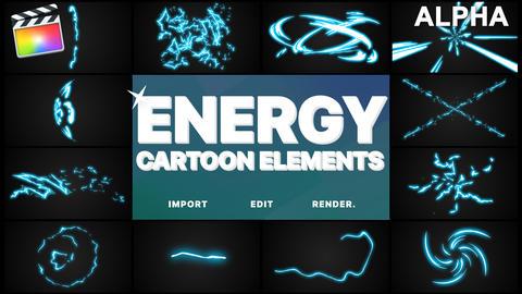 Cartoon Energy Elements Plantilla de Apple Motion