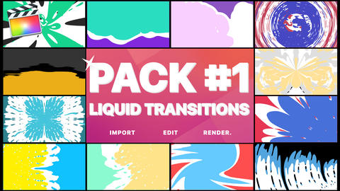 Liquid Transitions Pack 01 Apple Motion Template