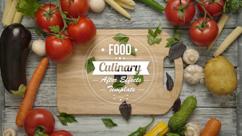 Food And Culinary Titles After Effects Template