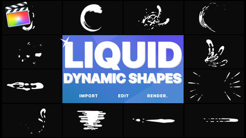 Dynamic Liquid Shapes Apple Motion Template