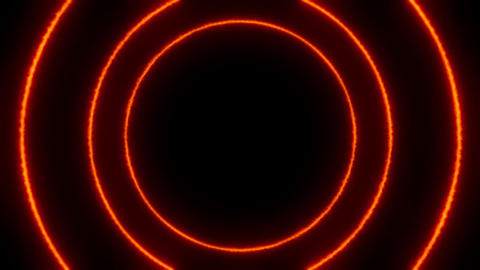 Glowing fiery rings of circles video animation Animation
