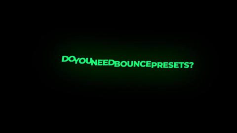 Colorful Bounce Presets