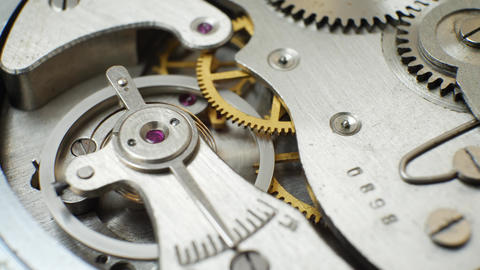 Clockwork Old Mechanical Watch Live Action