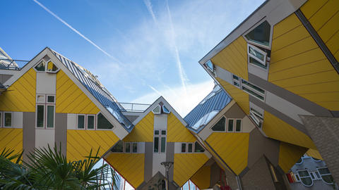 Cube House are a set of innovative houses built in Rotterdam, Netherlands Footage