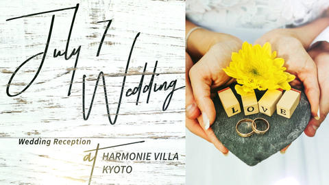 White Wood Pattern Wedding Endroll Movie/Slideshow After Effectsテンプレート