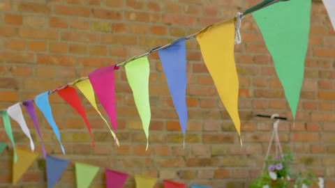 Colored Triangular Flags Live Action