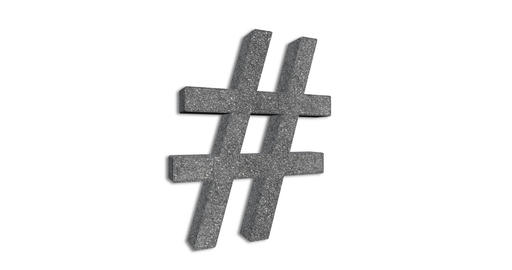 Hashtag Sign Rotation Loop Live Action