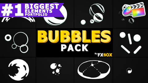 Bubble Elements Apple Motion Template