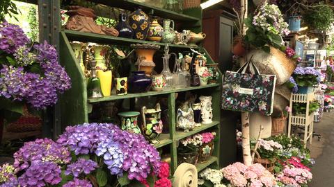 Paris, France, 20 May 2019 - The flower market in Paris located on the Ile de la Footage