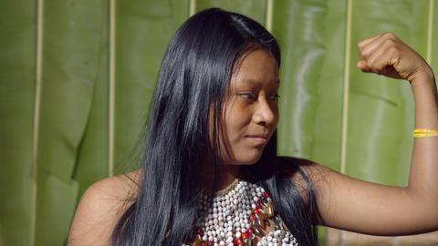 Muscular Young Girl In Ecuador Live Action