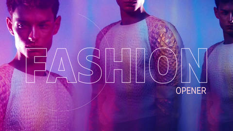 Fashion Dynamic Glitch Opener After Effects Template